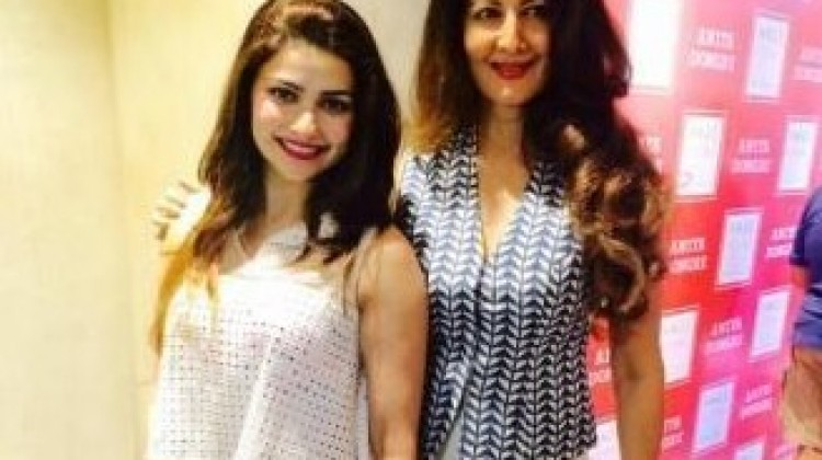 "Prachi and Sangeeta Bijlani at ""Vogue' Preview"