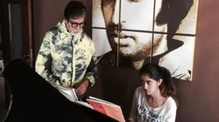 Amitabh Bachchan proud of granddaughter's musical talent