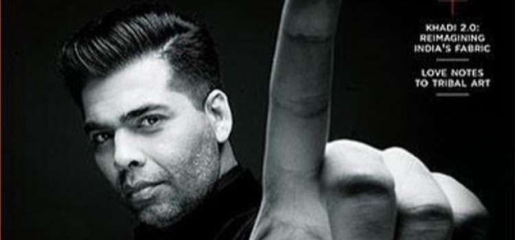 "Karan Johar bags cover page of ""Forbes Life"""