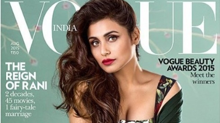 "Rani Mukhrji bags ""Ageless Beauty"" Award and Cover Page from Vogue India"