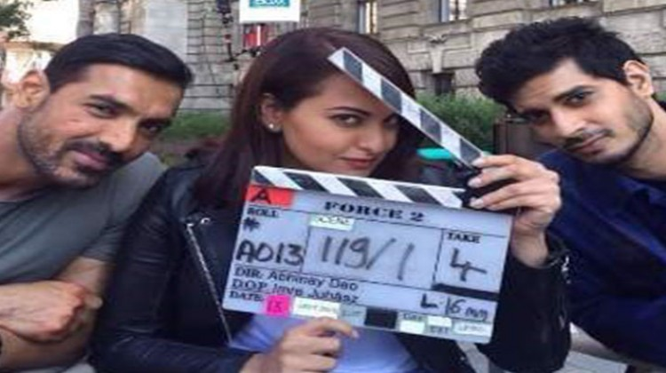 """Sonkashi Sinha and John Abraham """"Force-2"""" in Budapest"""