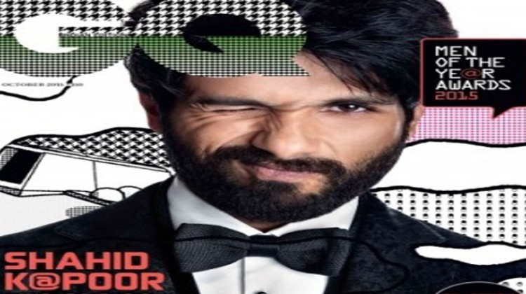 """Shahid Kapoor """"Actor of the year"""" on GQ Cover"""