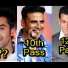 Not even 12th Pass? Shocking educational qualifications of your favorite Bollywood actors