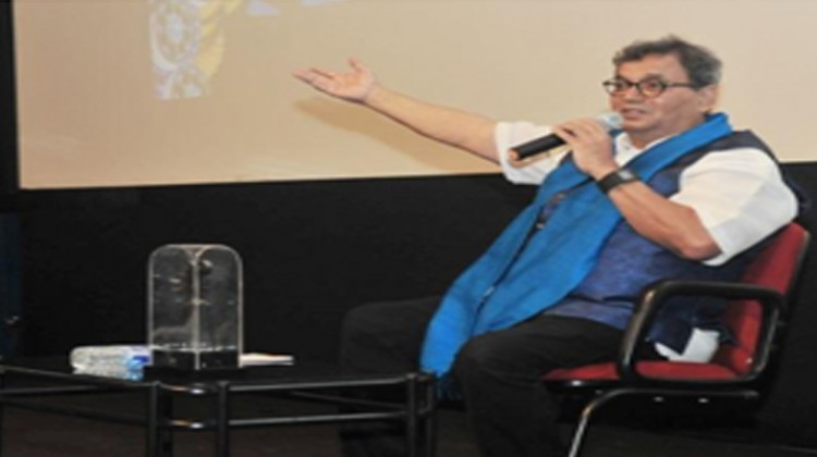 Showman Subhash Ghai in conversation with film enthusiasts during the masterclass at IFFI Goa 2017