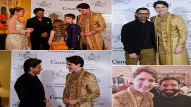 Shah Rukh Khan Meets Canadian Prime Minister Justin Trudeau