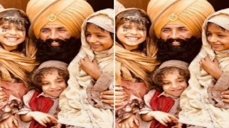Akshay Kumar Shooting for Kesari with Kids