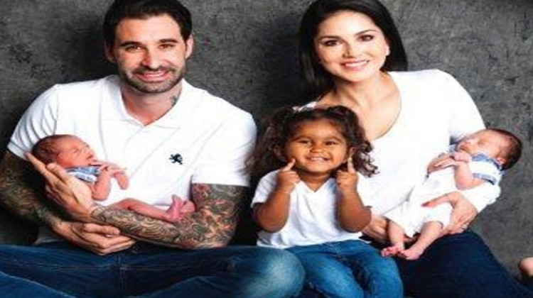 Sunny Leone Welcomes Her Sons