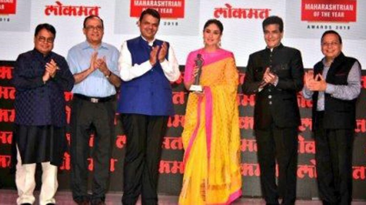 Kareena Kapoor Bags Lokmat Maharashtrian Power Celebrity Award