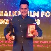 Siddharth Kannan honored at the 'Dada Saheb Film Foundation Awards 2018' for 'Best Anchor'