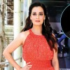 Dia Mirza gifts a rare six sheet poster of 'Mother India' to Sanjay Dutt