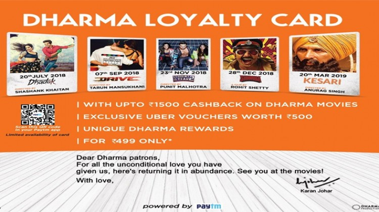 Karan Johar presents Dharma Loyalty Card