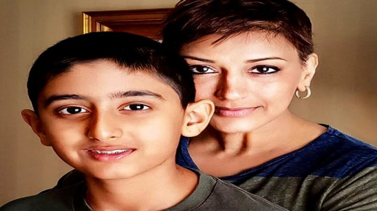 Sonali Bendre switched on the sunshine with son Ranveer