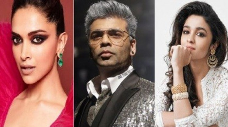 Alia Bhatt And Deepika Padukone With Karan Johar As First Guests