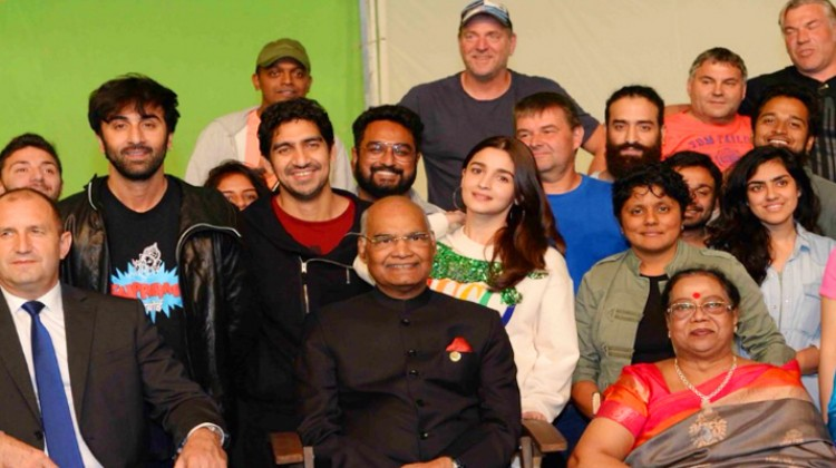 "Indian President Kovind Visits ""Brahmastra"" Team in Bulgaria"