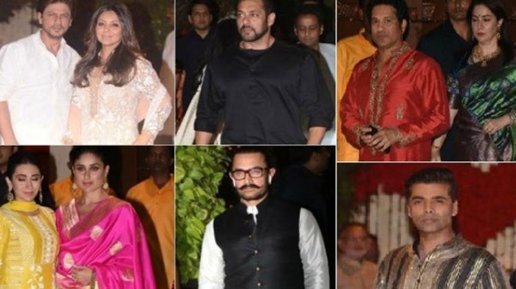 Salman Khan, Aamir Khan, Shahrukh Khan At Ambani Ganpati Celebration