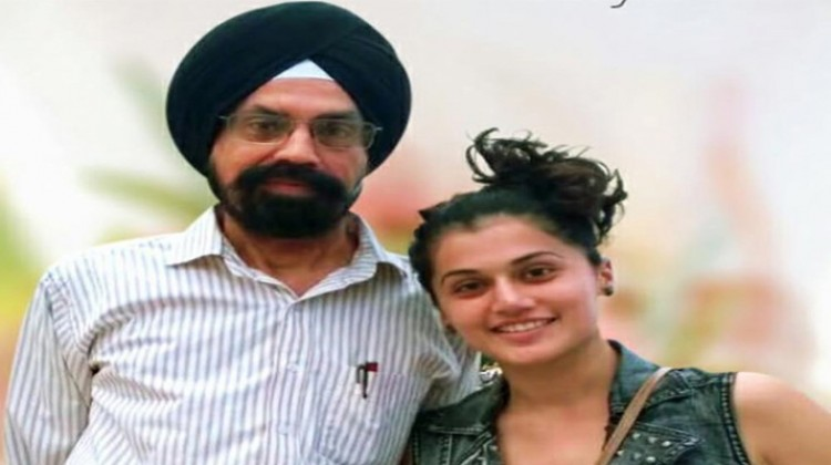 Taapsee heads home to surprise dad for his retirement