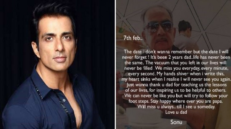 I Miss You Dad Says Sonu Sood