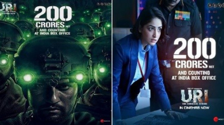 "Vicky Kaushal And Yami Gautam Starring ""URI"" Crosses 200 Crore"