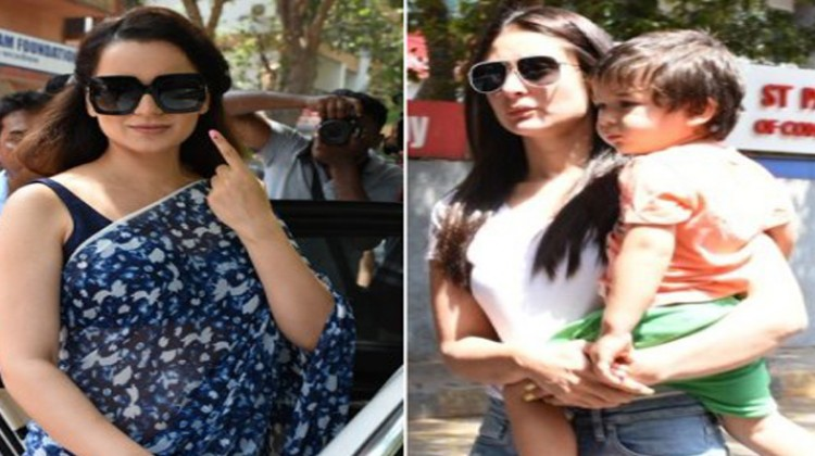 Kangana Ranaut And Kareena Kapoor Khan Cast their Vote