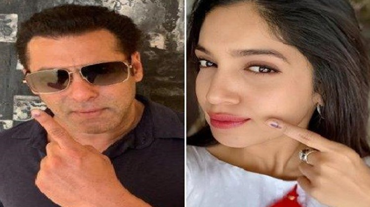 Salman Khan and Bhumi Pednekar Urges Fans To Vote