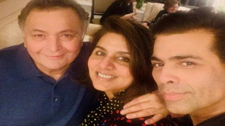 Karan Johar meets his 'favorite couple of Indian cinema' Rishi and Neetu in New York
