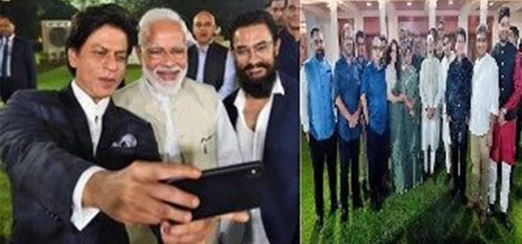 PM Modi's Selfie Game On Point, Poses With B-town Celebs and Directors